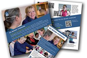 Printmaterialer fra Kampagnen En Bedre Hverdag, Køge Kommune. Produceret af peter Zeuthen, Visual Story.